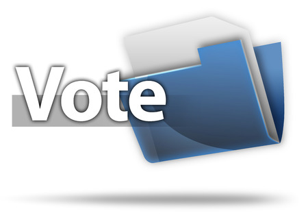 politican: 3D Style Folder Icon with Vote related wording Stock Photo