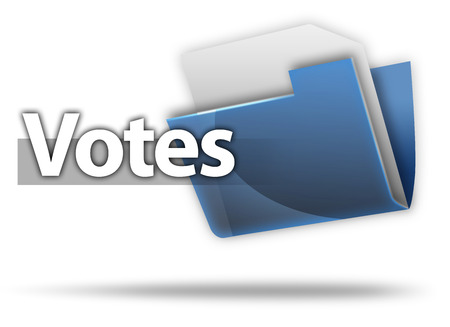 3D Style Folder Icon with Vote related wording Stock Photo