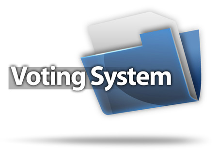 electoral system: 3D Style Folder Icon with Vote related wording Stock Photo