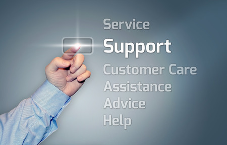 Virtual Touchscreen mit Unterstützung Wortlaut Standard-Bild - 26812937