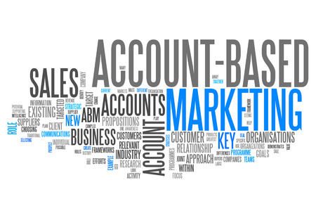 Word Cloud Account-Based Marketing Imagens