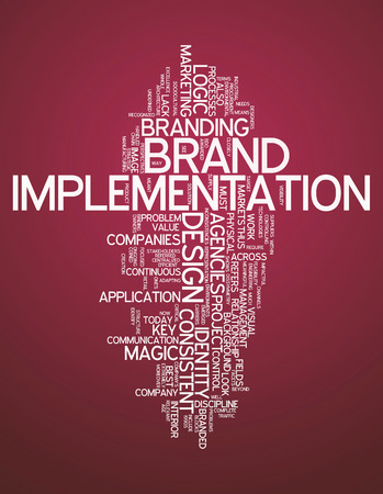 branded product: Word Cloud Brand Implementation