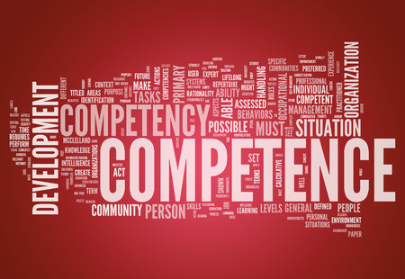 Word Cloud with Competence related tags photo