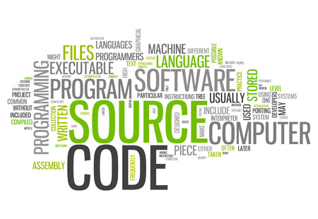 Word Cloud with Source Code related tags