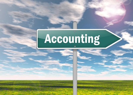 auditors: Signpost with Accounting wording Stock Photo
