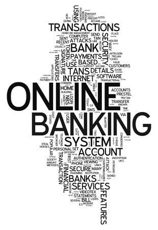 online banking: Word Cloud with Online Banking related tags Stock Photo