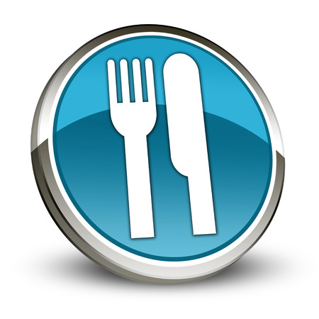 Icon, Button, Pictogram with Eatery, Restaurant symbol
