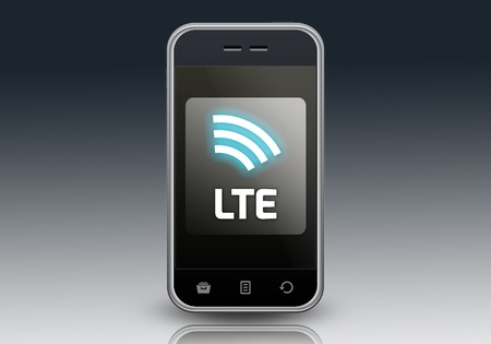 Smartphone with LTE wording photo