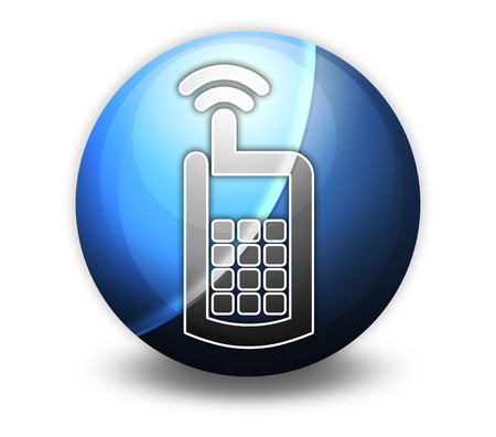 caller: Icon, Button, Pictogram with Cell Phone symbol