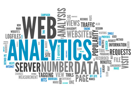 Word Cloud with Web Analytics related tags photo