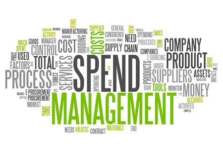 Word Cloud with Spend Management related tags photo