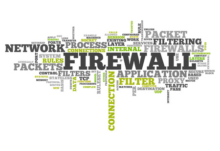 proxy: Word Cloud with Firewall related tags