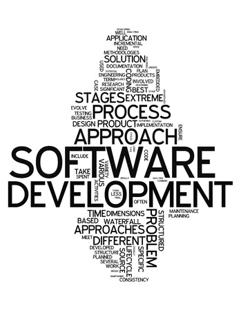 scalability: Word Cloud with Software Design related tags Stock Photo