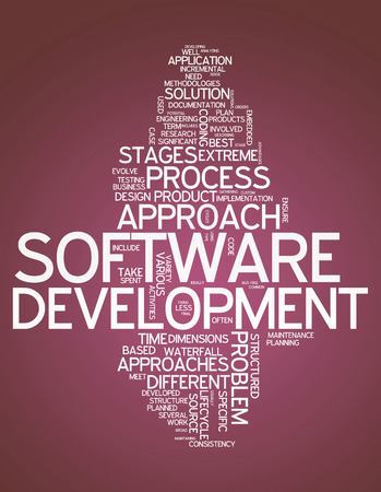 robustness: Word Cloud with Software Design related tags Stock Photo