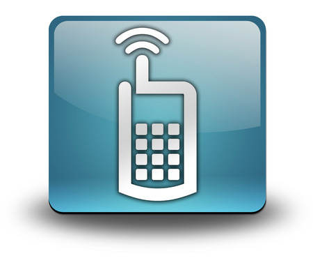 Icon, Button, Pictogram with Cell Phone symbol