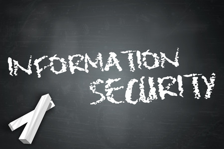 controls: Blackboard with Information Security wording