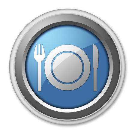 cook out: Icon, Button, Pictogram with Eatery, Restaurant symbol