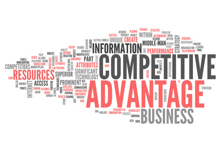 strategic position: Word Cloud with Competitive Advantage related tags Stock Photo