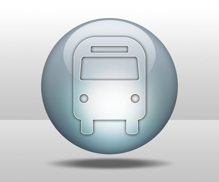 transporte terrestre: Icono, bot�n, Pictograma autobuses Transporte Terrestre