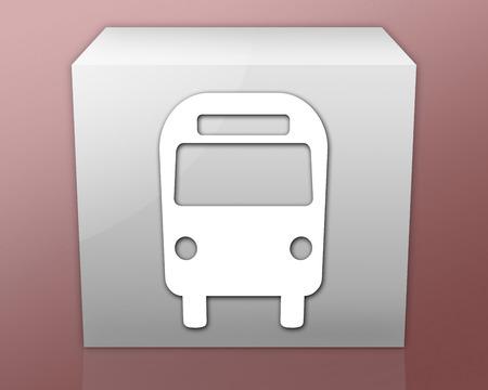 busses: Icon, Button, Pictogram Bus   Ground Transportation