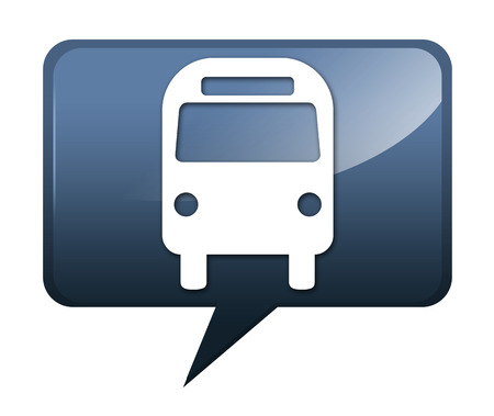 transporte terrestre: Icono, botón, Pictograma autobuses Transporte Terrestre