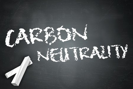 Blackboard with Carbon Neutrality wording photo