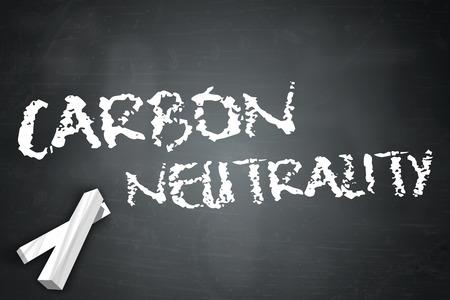 neutrality: Blackboard with Carbon Neutrality wording