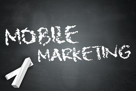 Blackboard with Mobile Marketing wording photo