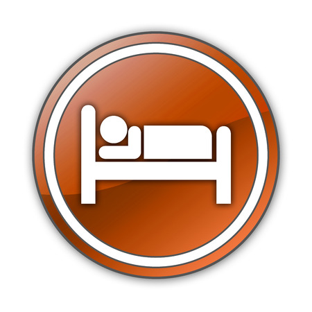 push room: Icon, Button, Pictogram with Hotel, Lodging symbol Stock Photo