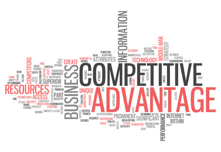 superior: Word Cloud with Competitive Advantage related tags Stock Photo