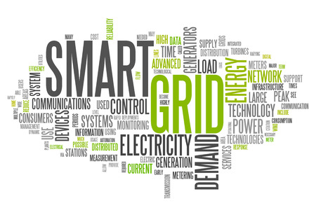 power grid: Word Cloud with Smart Grid related tags