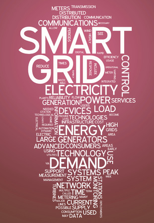 Word Cloud with Smart Grid related tags photo