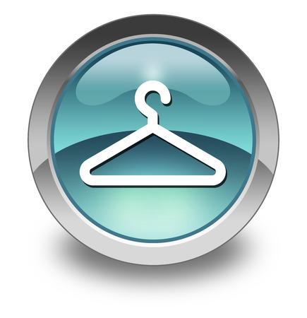 accomodation: Icon, Button, Pictogram with Coat Hanger symbol Stock Photo