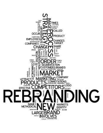 Word Cloud with Rebranding related tags photo