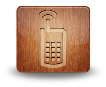 Icon, Button, Pictogram with Cell Phone symbol photo