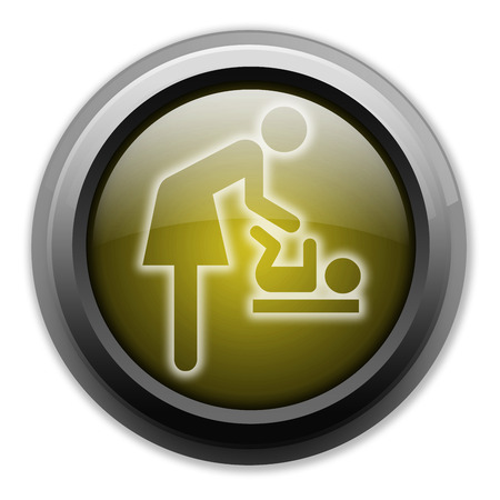 baby changing sign: Icon, Button, Pictogram Baby Change Stock Photo