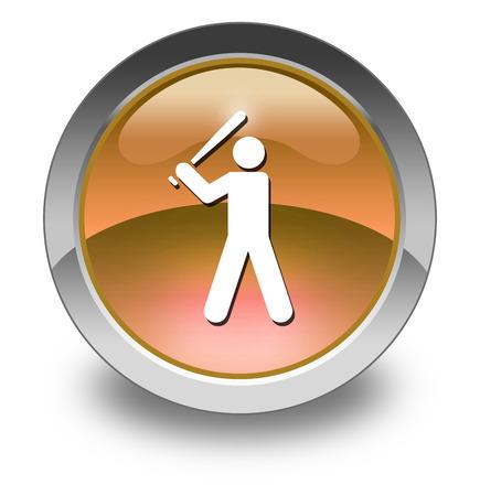 umpire: Icon, Button, Pictogram with Baseball symbol