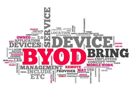 Word Cloud with BYOD related tags Stock Photo - 27023829