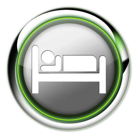 suite: Icon, Button, Pictogram with Hotel, Lodging symbol Stock Photo