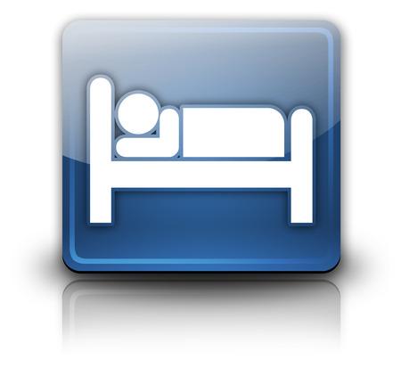 hospedaje: Icono, botón, pictograma con el Hotel, símbolo Alojamiento Foto de archivo