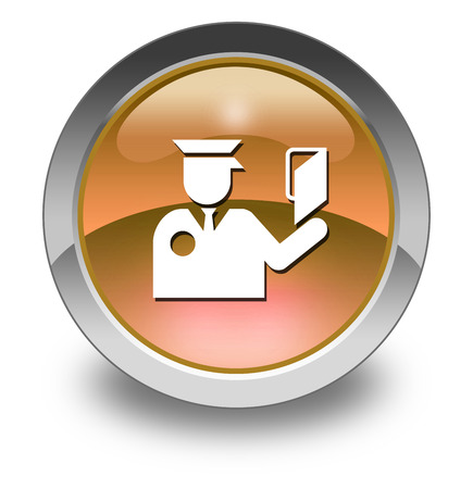 Icon, Button, Pictogram with Immigration  symbol photo