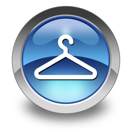 accomodation: Icon, Button, Pictogram with Coat Hanger symbol Stock Photo