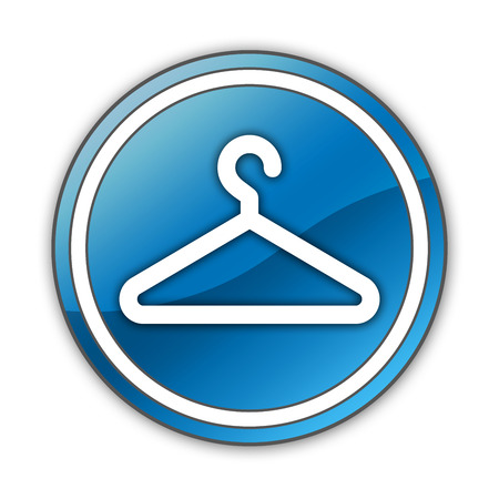 coat hanger: Icon, Button, Pictogram with Coat Hanger symbol Stock Photo