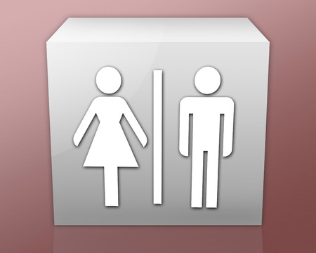 push room: Pictogram with Restrooms symbol
