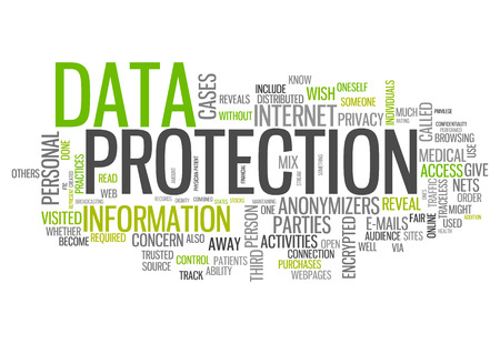 Word Cloud with Data Protection related tags Banco de Imagens - 27038251