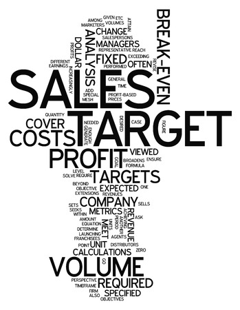 Word Cloud with Sales Target related tags photo