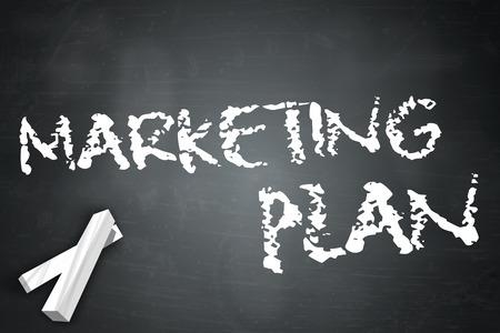 marketing plan: Blackboard with Marketing Plan wording