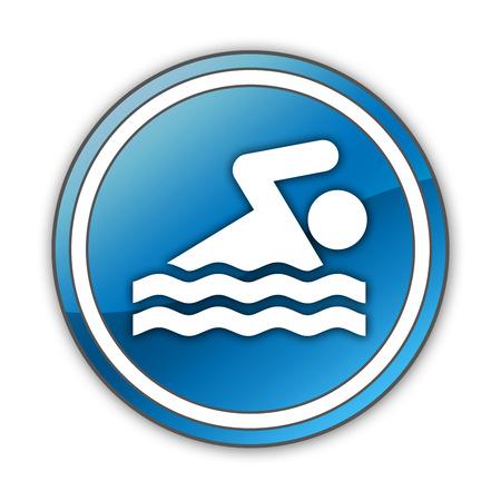 Pictogram with Swimming symbol photo