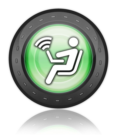 access point: Pictogram with Wireless Access symbol