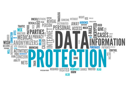 Wort-Wolke mit Data Protection verwandte Tags